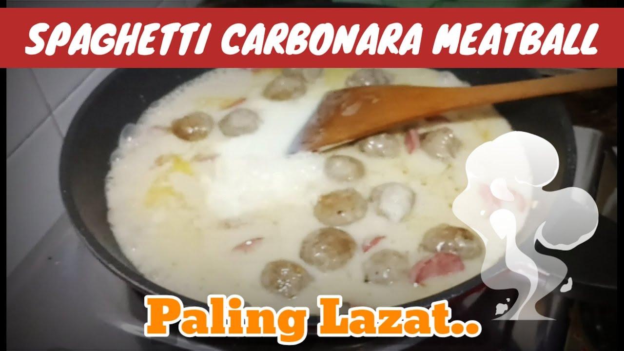 Download Resepi Spaghetti Carbonara Meatball yang Mudah di Sediakan