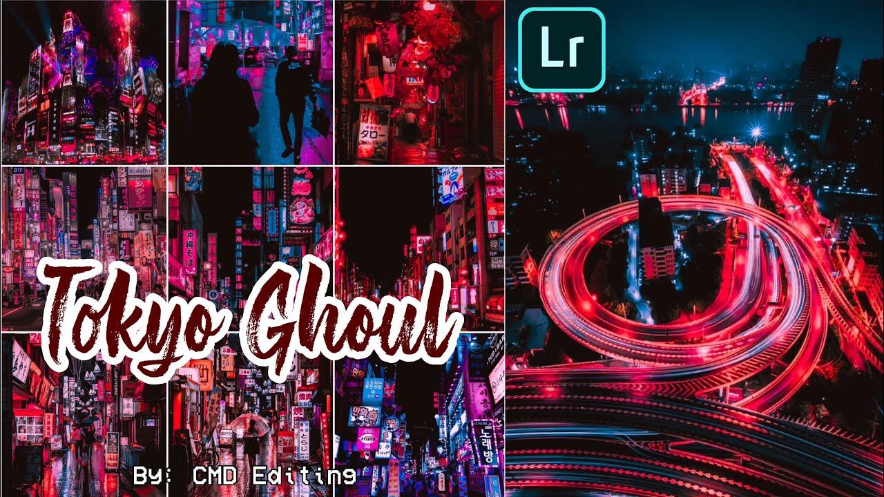 How To Edit Tokyo Ghoul Preset Tutorial | Free Lightroom Mobile Presets DNG | Neon Portrait