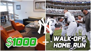 Inside a Yankee Stadium Suite + WALK OFF HR | Yankees Vs. A's