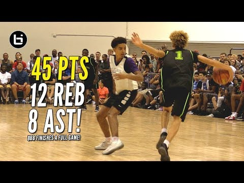 Thumbnail: LaMelo Ball Drops 45 Points!! Big Baller Brand Finishes A Game!!