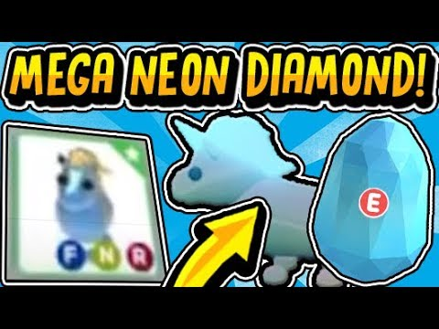 First Ever Mega Neon Diamond Unicorn In Adopt Me How To Get A