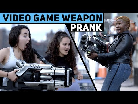Warframe promotional stunt brings a video game gun to the real streets of New York