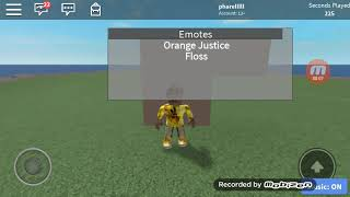 Floss and orange Justice Roblox/orange justice sim
