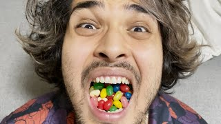 Eating a lot of HORRIBLE Flavored Jelly Beans