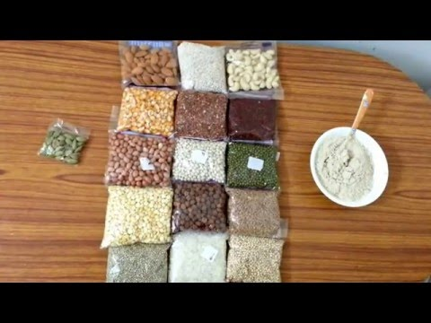 Sathu Maavu (Health Mix) for babies (Tamil) with english sub titles