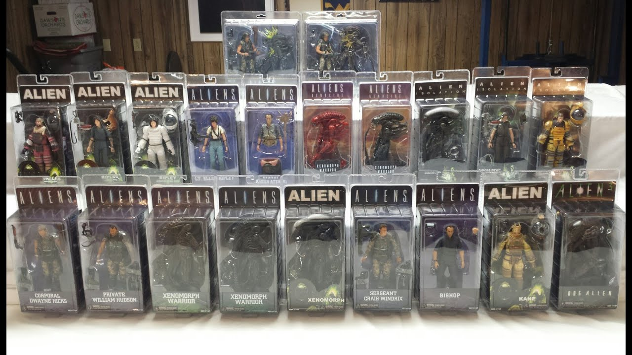 My NECA Alien Action Figure Collection YouTube
