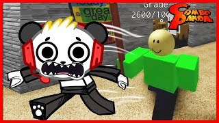 Roblox Baldi's Basics Multiplayer ESCAPE FROM BALDI Let's Play with Combo Panda