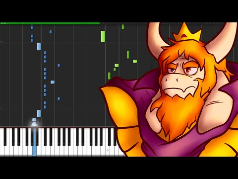 Bergentrückung + ASGORE - Undertale [Piano Tutorial] (Synthesia)