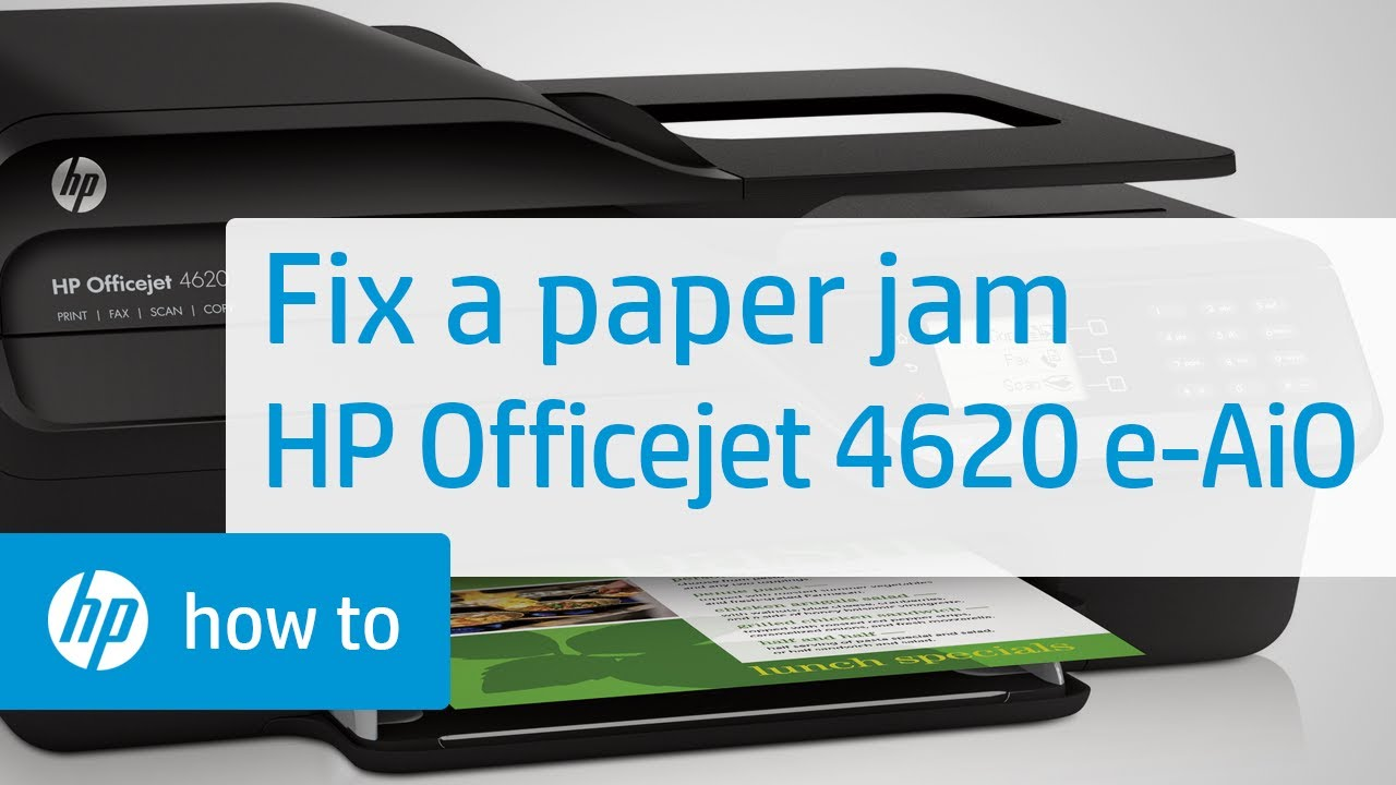 Fixing A Paper Jam Hp Officejet 4620 E All In One
