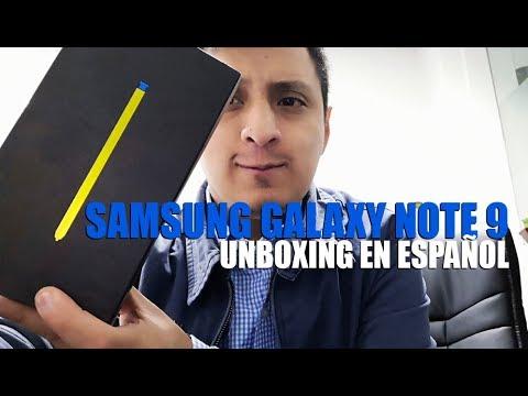 ¡EXCLUSIVA! SAMSUNG GALAXY NOTE 9 EN PERÚ UNBOXING EN ESPAÑOL ¿Qué trae la caja?