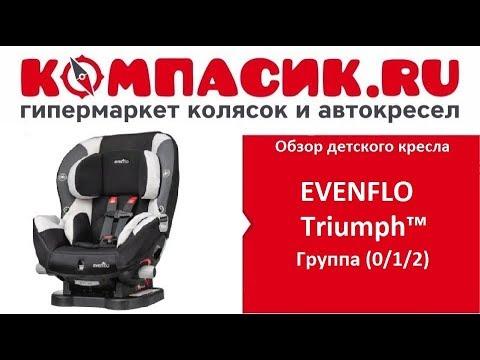Уникальное детское автокресло EVENFLO Triumph. Обзор от КОМПАСИК.ру
