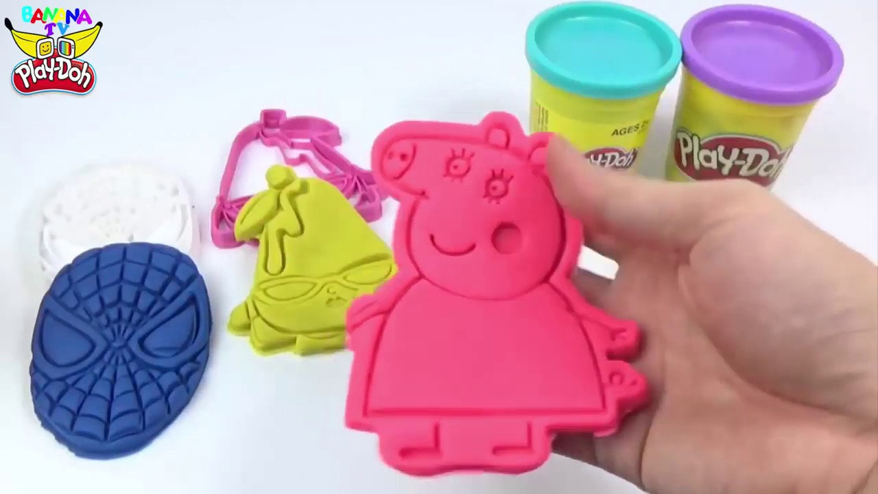 Play Doh |  Ice Cream Peppa Pig  | Superhero  | Learn Colors | Nursery Rhymes  | Spiderman