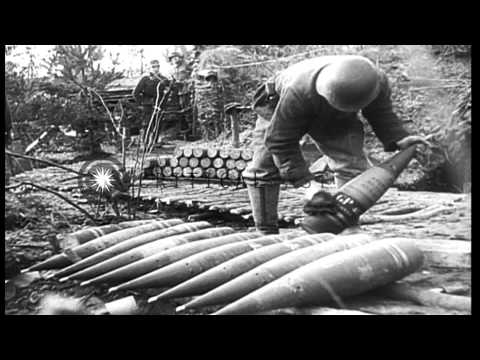 Embattled German forces defending against Allies in Germany during World War II HD Stock Footage