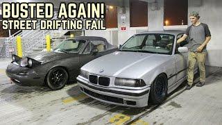 Street Drifting + Cops = No Bueno! : Miata NA/BMW E36 Drift Fail