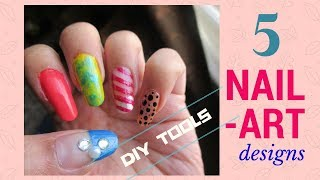 5 Amazing and Easy Nail Art Designs for Beginners using DIY Tools
