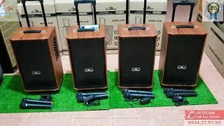 [TOP LOA] Loa kéo karaoke rộng 3 TẤC dưới 1 TRIỆU 2 đáng mua nhất 2020 kèm 2 MIC không dây thùng GỖ