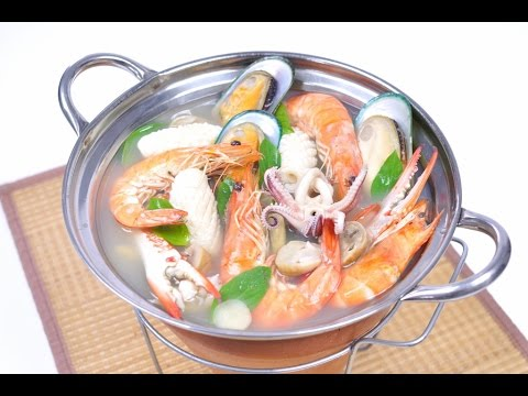 Thai spicy seafood soup thai food poh tak for Thai fish soup