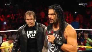 roman reigns and dean ambrose confronts the wyatt family wwe raw september 14 2015