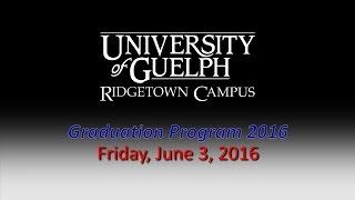 UGRC 2016 Graduation Valedictorian Address Mr. Brady Jones