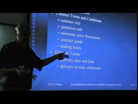 Financial Derivatives - Lecture 19