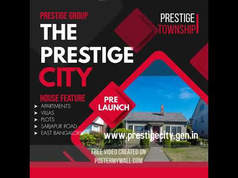 The Prestige City Township Sarjapur Road Bangalore | Prestige Constructions