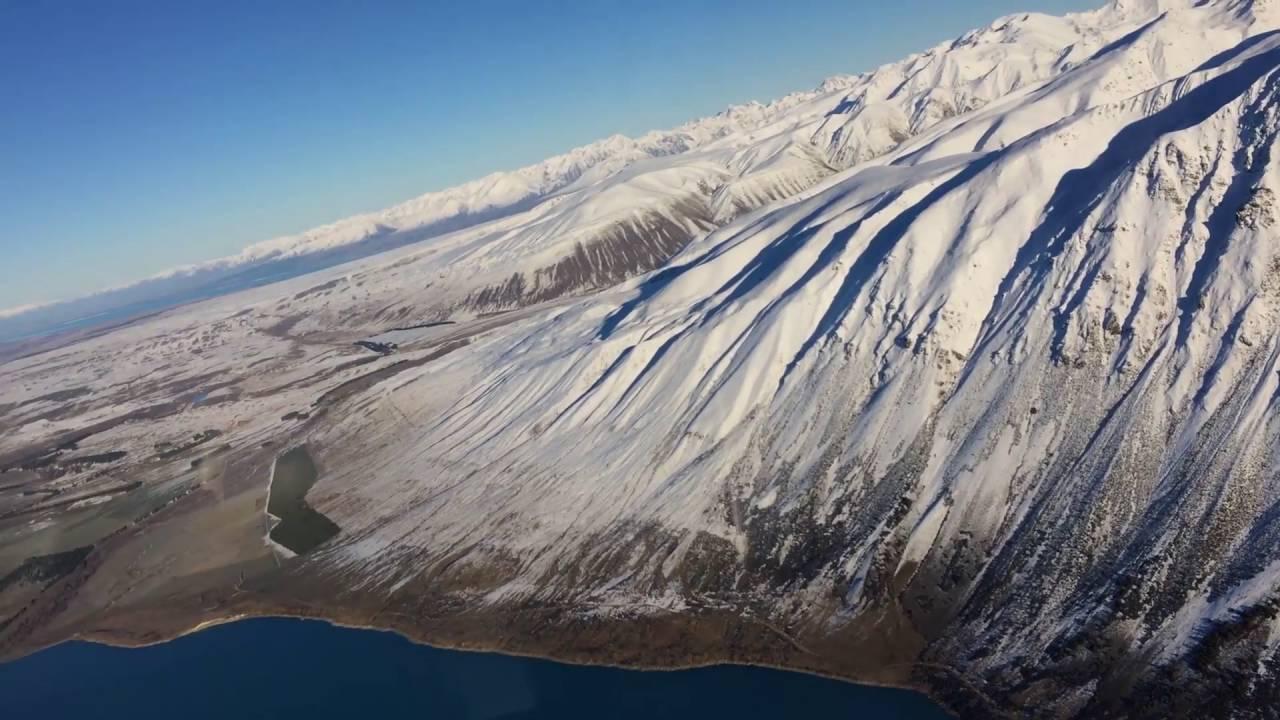 エア・サファリの小型機でサザンアルプス山脈上空を遊覧飛行 - トラベル Watch - YouTube