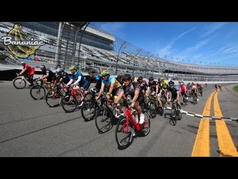 Cycling the Daytona 500 International Speedway