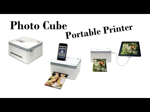 Photo Cube Portable Printer Vupoint Photo Cube Color Portable