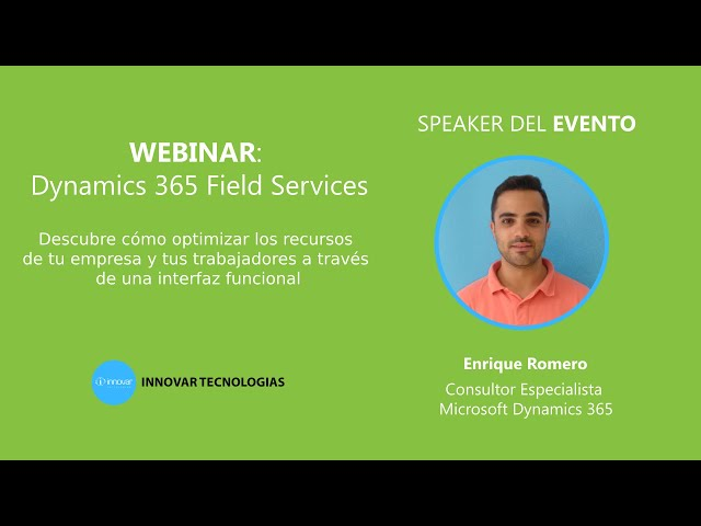 Webinar Dynamics 365 Field Services
