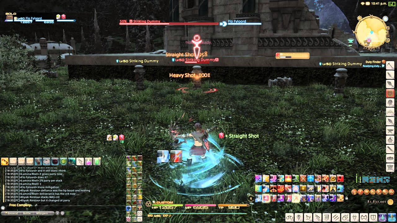 FFXIV : HW : Straighter Shot does not register in time