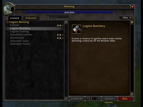 World Of Warcraft Skinning Technique: Legion Butchery Guide