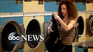Woman steals laundry at a laundromat l What Would You Do