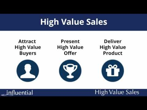 How to Sell High End Products, Programs and Services
