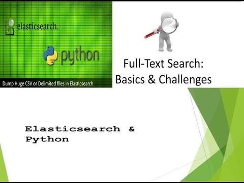 Python Elasticsearch full text search