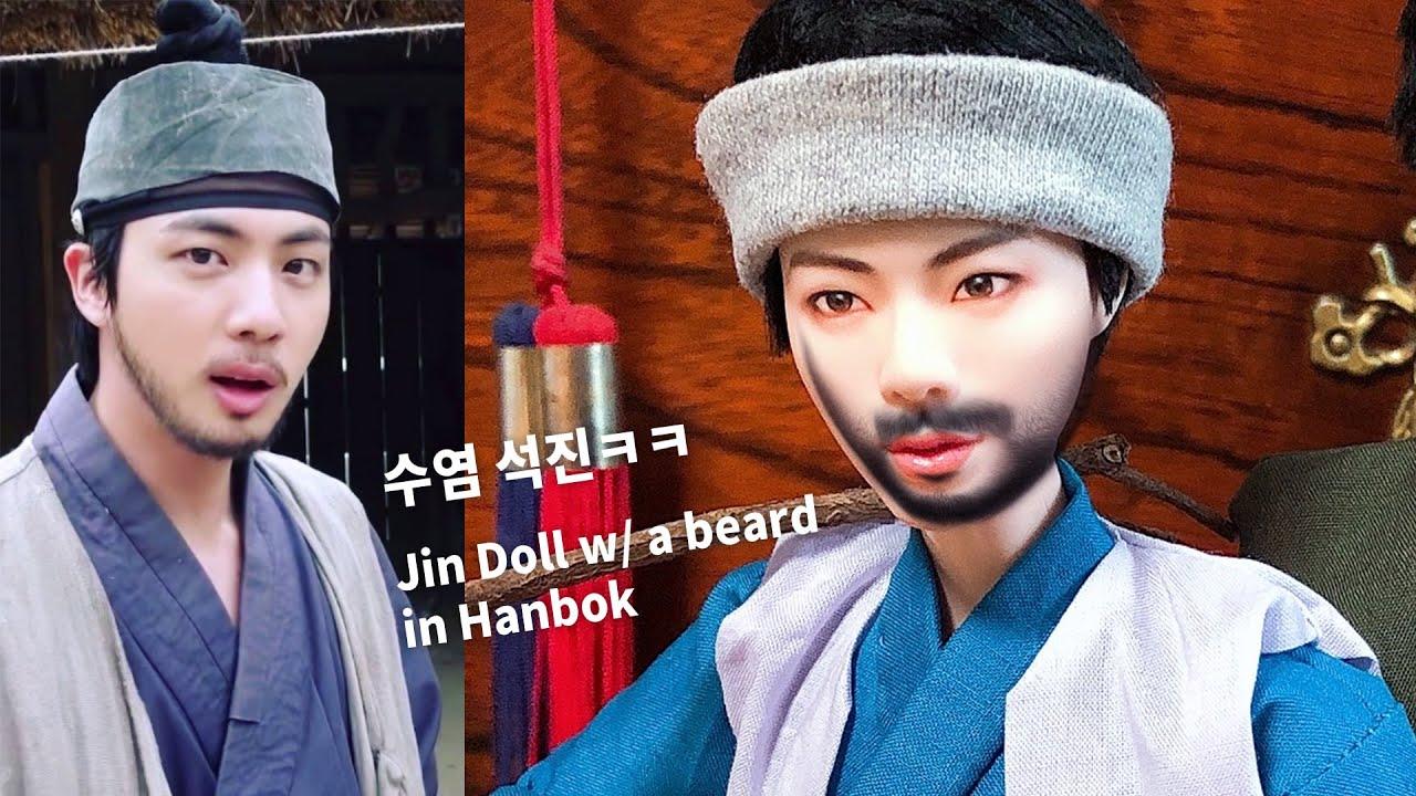(ENG CC) BTS Seokjin (석진) from Daechwita (대취타) MV ver. x Mattel Dolls Repaint and Hanbok Sewing