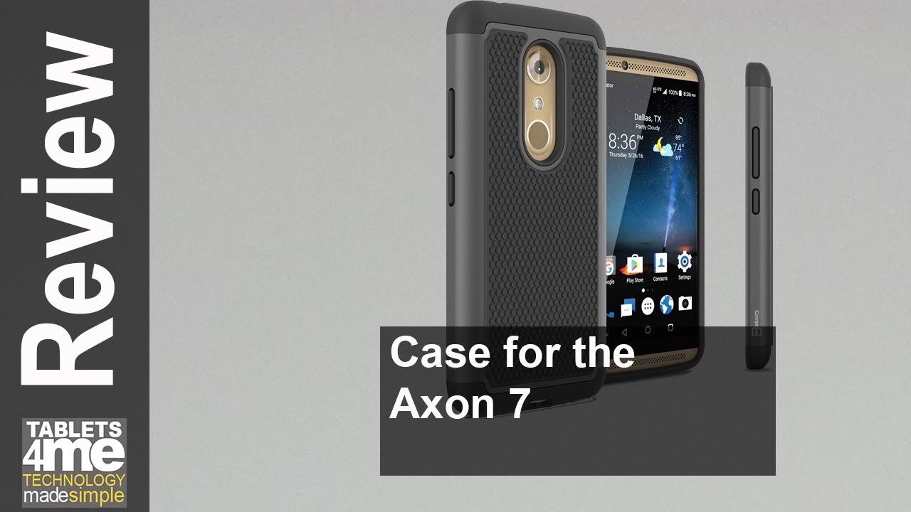 CoverON® Slim Hybrid Hard Phone Cover Case for ZTE Axon 7 - Black
