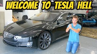 homepage tile video photo for I got stuck with a FAILING Tesla Model S Performance (shows how WASTEFUL electric cars can be)