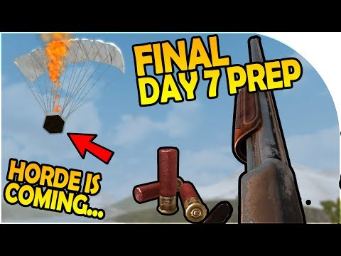 FINAL DAY 7 PREP - THE HORDE IS COMING! - 7 Days to Die Alpha 16 Gameplay Part 10