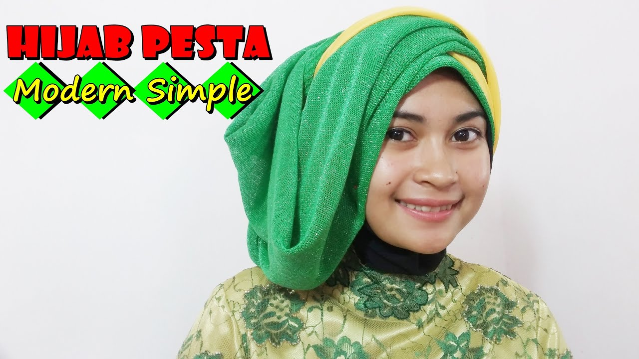 Tutorial Hijab Pesta Modern Dan Simple Terbaru By Nica 183 YouTube