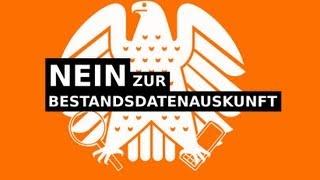 Nein zur Bestandsdatenauskunft - Protestkundgebungen am 14.4. und 27.4.2013