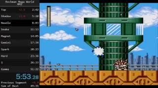Mega Man: The Wily Wars (MM3) ロックマンメガワールド 岩男3 speedrun in 50:39