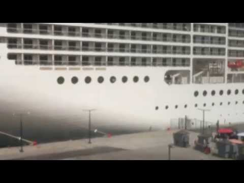MSC MUSICA cruiser ship in Port of  Koper Capodistria, Slovenia