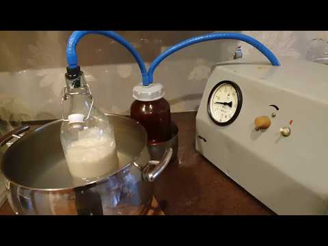 Варим сгущенку в домашних условиях хирургическим отсосом. Vacuum Warm Milk Concentration