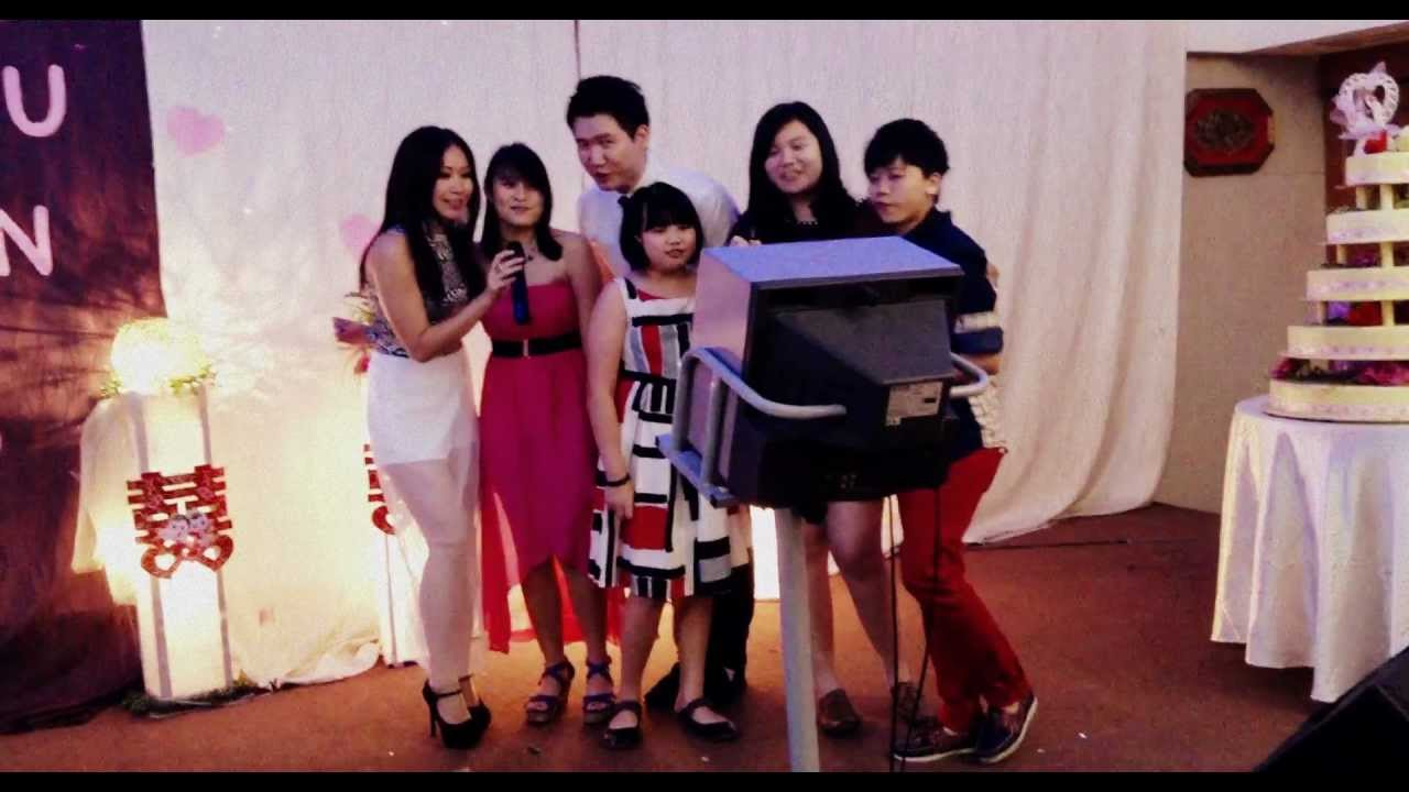 sang Just The Way You Are at Hang Yee's wedding