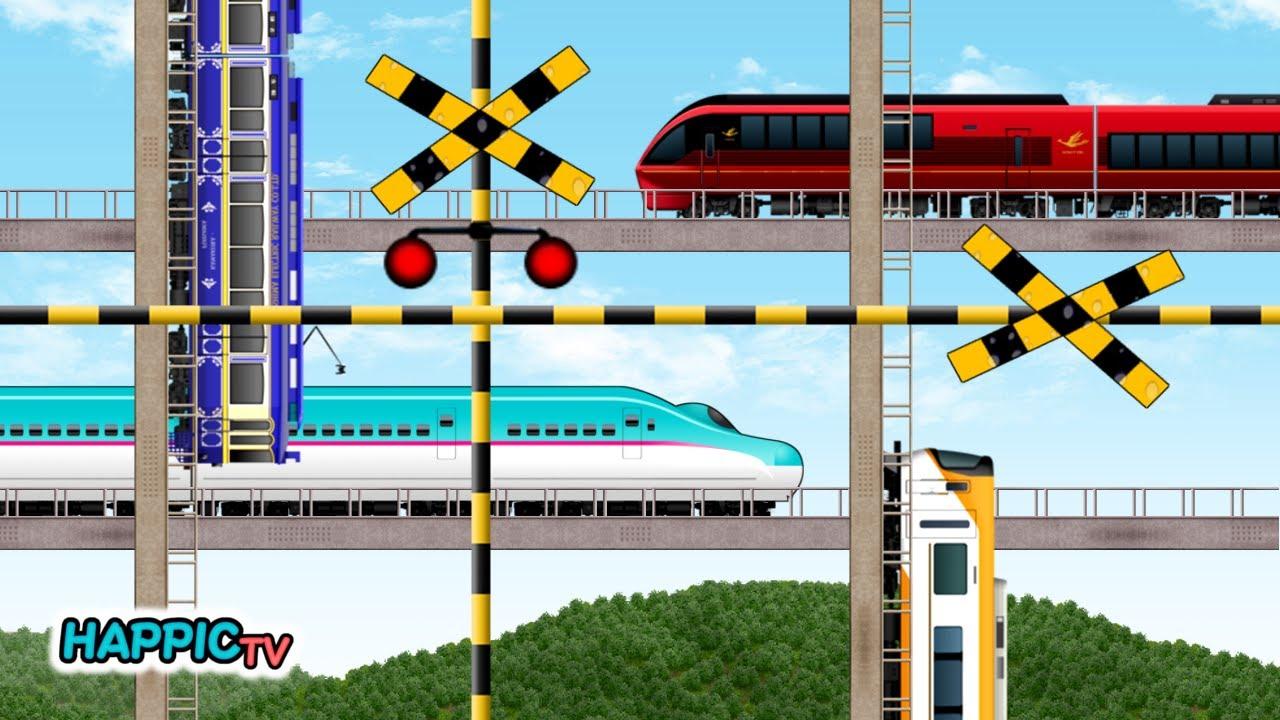 【踏切 Fumikiri】忙しすぎる踏切と電車の立体交差 | 新幹線 | 京阪 / Train & Railroad Crossing - Too Busy Crossing -