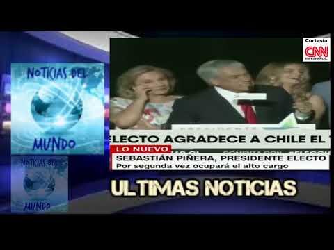 """ultimas noticias,CHILE agradece victoria"""" PRESIDENTE SEBASTIAN PIÑEIRA"""" 17 DE DICIEMBRE 2017"""