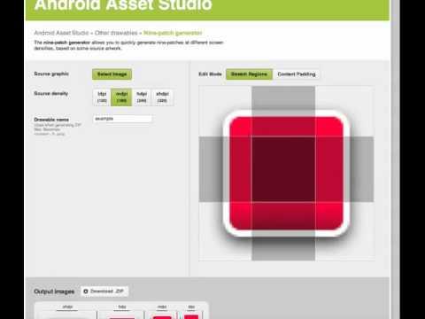 Sneak Peek: Nine-patch generator in the Android Asset Studio