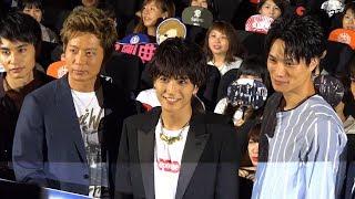 映画『HiGH&LOW THE MOVIE 2 / END OF SKY』が行われ、主演の岩田剛典を...