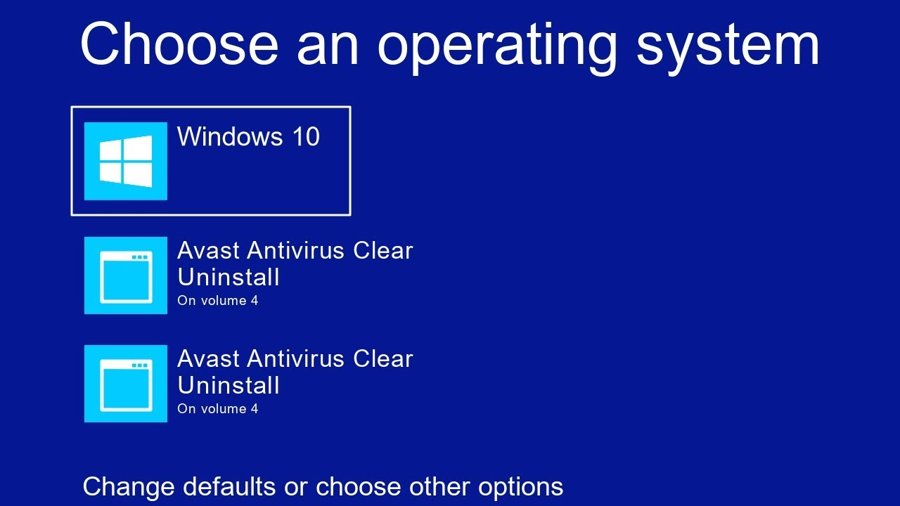 How To Remove Avast Antivirus from choose an operating system windows 10