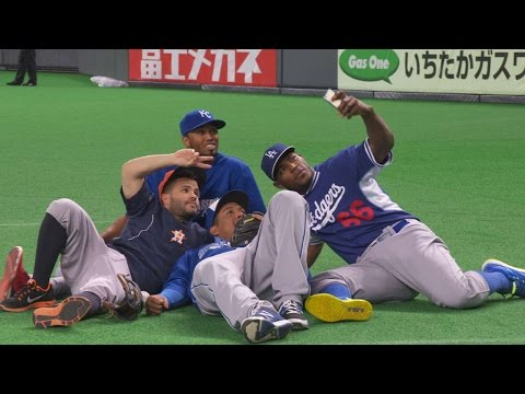 Altuve gets micd up for the Japan Series